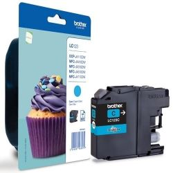 Cartouche Brother LC-123 Cyan 600 Pages