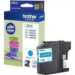 Cartouche Brother LC-221 Cyan 260 Pages
