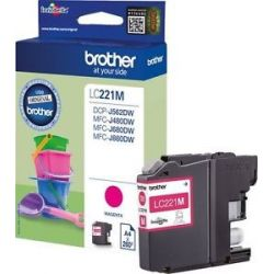Cartouche Brother LC-221 Magenta 260 Pages