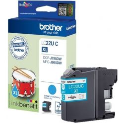 Cartouche Brother LC22U Cyan 1200 Pages