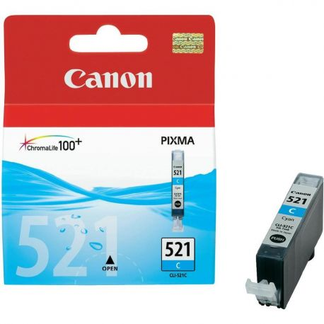 Cartouche Canon CLI-521 Cyan 448 Pages