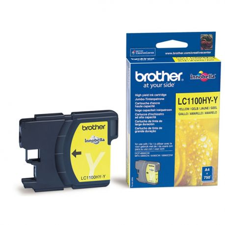 Cartouche Brother LC-1100 Jaune 750 Pages