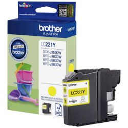 Cartouche Brother LC-221 Jaune 260 Pages