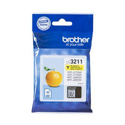 Cartouche Brother LC-3211 Jaune 200 Pages